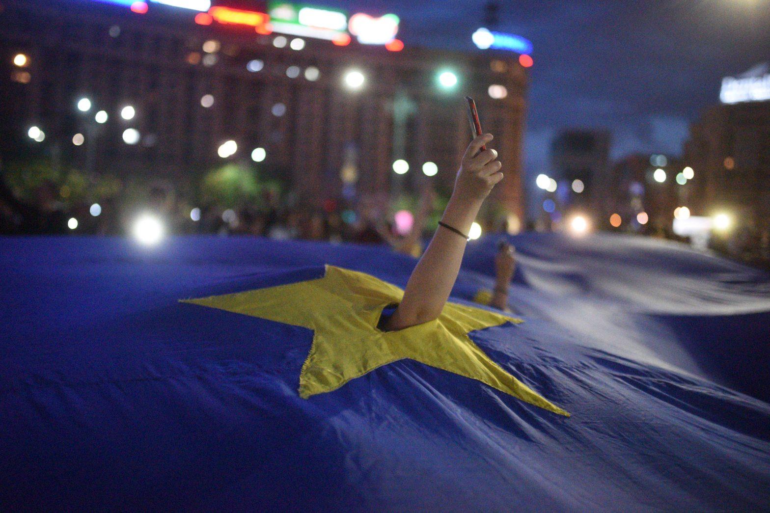 Romania UE protest