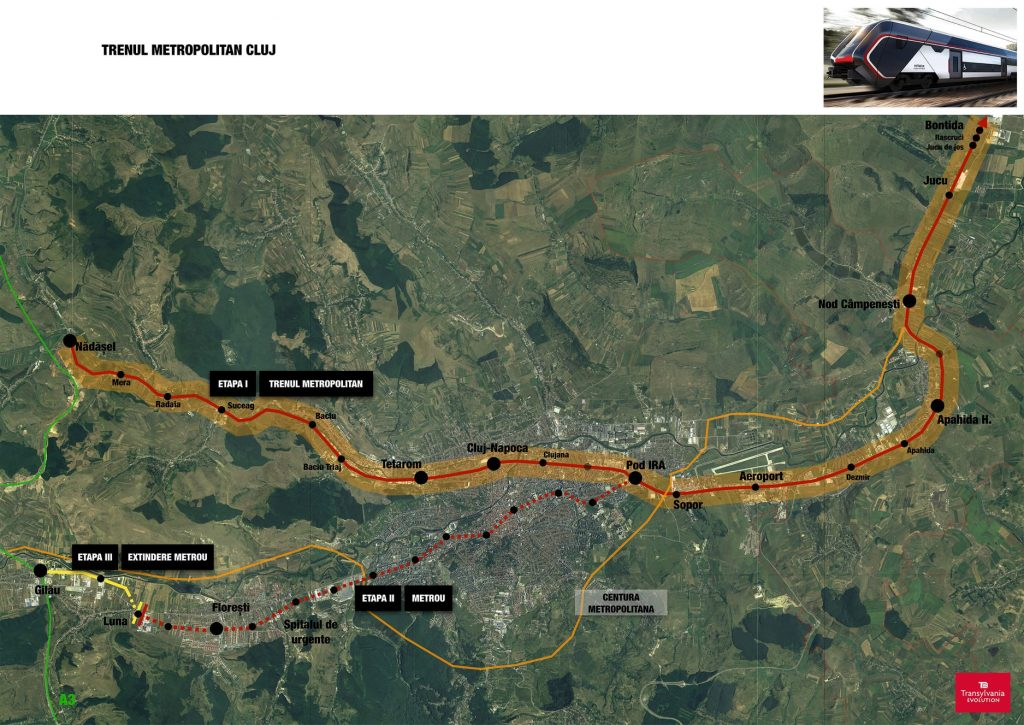 Rețeaua de metrou și tren metropolitan este cel mai important proiect de infrastructură pentru Cluj-Napoca