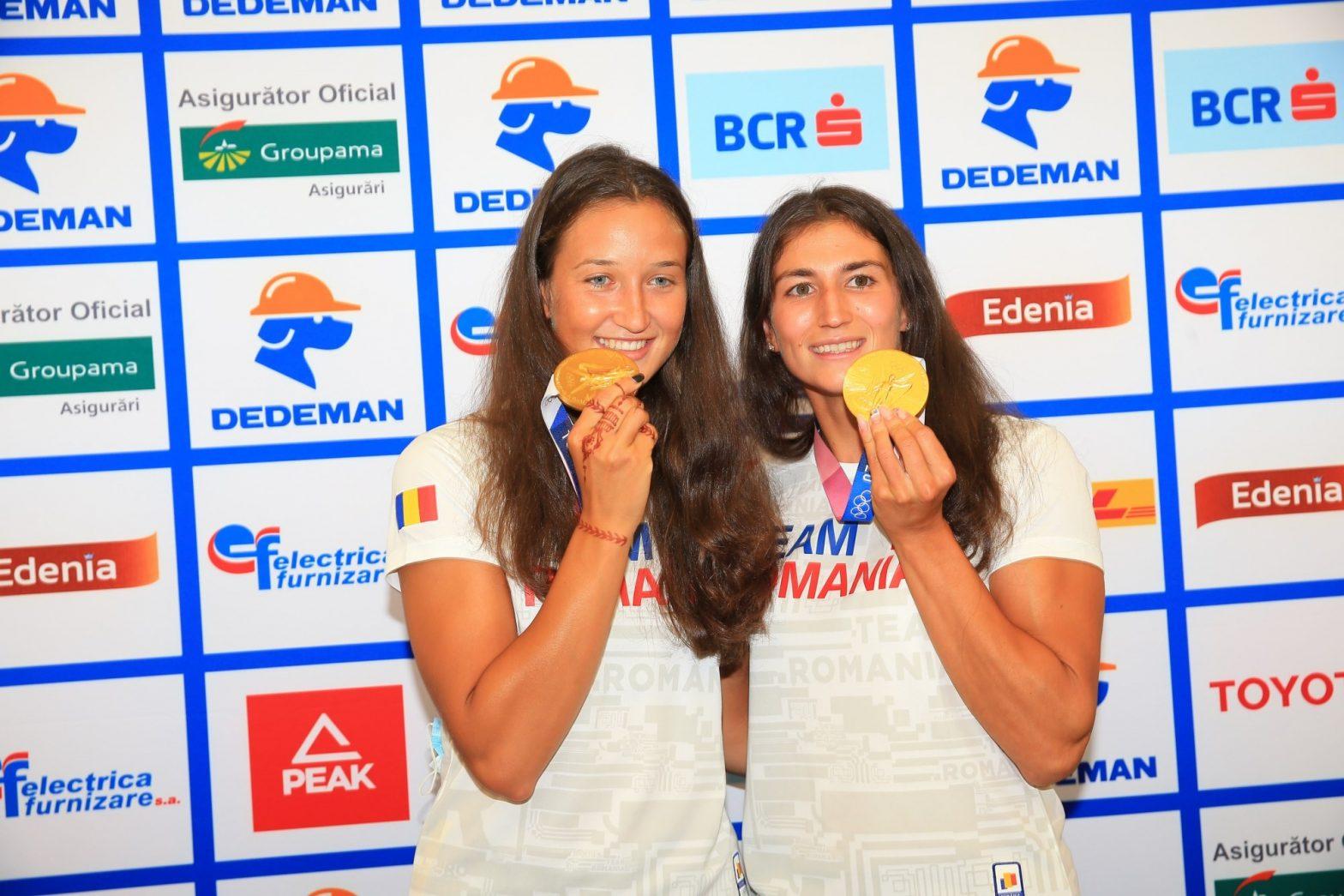 Canotoarele Ancuța Bodnar și Simona Radiș au adus singura medalie de aur pentru România la Tokyo